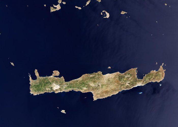 Η Κρήτη από δορυφόρο